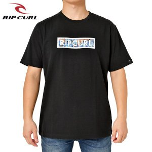 RIP CURL リップカール メンズ 半袖Tシャツ T01-207 BLK 正規品 UNDERTOW BOX SS TEE|hotobama