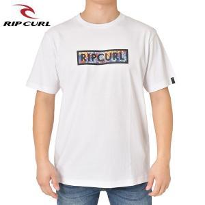 RIP CURL リップカール メンズ 半袖Tシャツ T01-207 WHT 正規品 UNDERTOW BOX SS TEE|hotobama