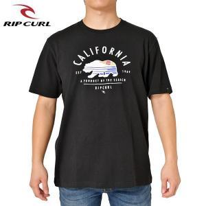 RIP CURL リップカール メンズ 半袖Tシャツ T01-209 BLK 正規品 BEAR-SCAPE SS TEE|hotobama