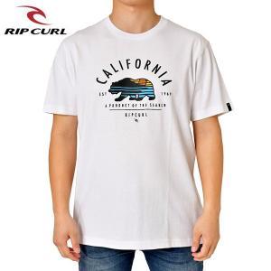 RIP CURL リップカール メンズ 半袖Tシャツ T01-209 WHT 正規品 BEAR-SCAPE SS TEE|hotobama