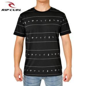 RIP CURL リップカール メンズ 半袖Tシャツ T01-300 BLK 正規品 FLAMINGO REPEAT SS VC TEE|hotobama