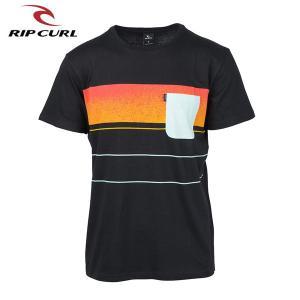 RIP CURL リップカール メンズ 半袖ポケットTシャツ T01-301 BLK 正規品 SQUAD BLOCK SS TEE|hotobama