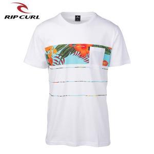 RIP CURL リップカール メンズ 半袖ポケットTシャツ T01-301 WHT 正規品 SQUAD BLOCK SS TEE|hotobama