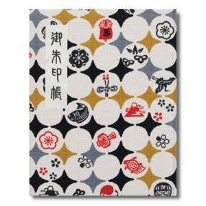 ●縁起の良い柄がプリントされた生地で装丁された御朱印帳です。 ●墨の裏写りを防ぐため和紙が袋とじにな...