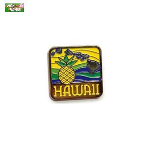 ハワイアン ピンバッジ パイナップルアイランド バッジ かばんやキャップ帽などに ハワイ お土産 PICK The HAWAII BL-PB-PNI|hotroad