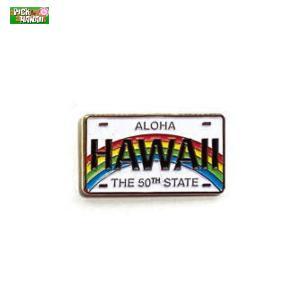 ハワイアン ピンバッジ ライセンスプレート バッジ かばんやキャップ帽などに ハワイ お土産 PICK The HAWAII BL-PB-LP|hotroad