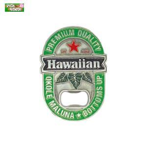 ボトルオープナーマグネット 栓抜き BEER 蓋開け マグネット 冷蔵庫に貼れる ビンビール等 PICK The HAWAII BL-MAG-BOBE|hotroad