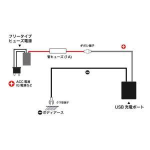 メール便可|エーモン/amon USB電源ポー...の詳細画像3