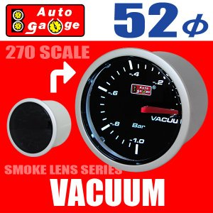 【展示品】オートゲージ スモークメーター バキューム計 52φ 2インチ ホワイトLED Auto Gauge 52-ASMVASWL-270|hotroad