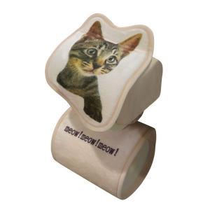 ロールペーパーホルダー キジトラ トイレットペーパー ネコ トイレ用品  明邦 ME160|hotroad