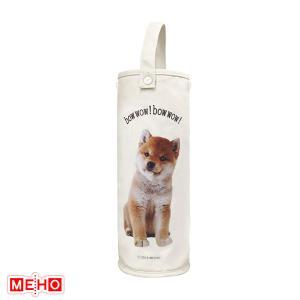 豆しばプリントロールペーパーストッカー 茶 犬 トイレ用品 ベルト付 ストック用 日用品 明邦 ME315|hotroad
