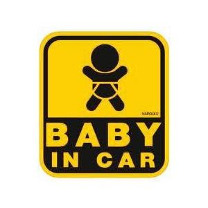 NAPOLEX セーフティーサイン 外貼りタイプ BABY IN CAR 保険付 SF-26/ hotroad