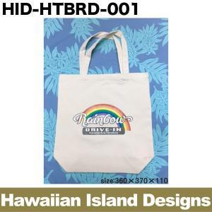 ハワイアン トートバッグ マチ無 Rainbow Drive-in レインボウドライブイン 360×370×110mm 日用雑貨 ショッピングバッグ/HID-HTBRD-001|hotroadparts