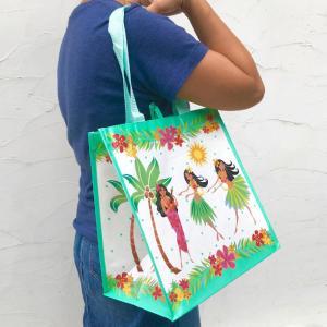 HOLO HOLO エコバッグ フラハニー W32.5cm×H33cm×マチ21cm 買い物袋 ハワイアン雑貨 PICK the HAWAII IH-ET-IHH|hotroadparts