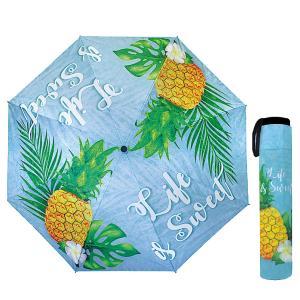 折りたたみ傘 Life is Sweet 日傘・雨傘兼用 UVカット 大きめの1mサイズ 軽量 ハワイアン雑貨 PICK the HAWAII IH-UM-LIFE|hotroadparts