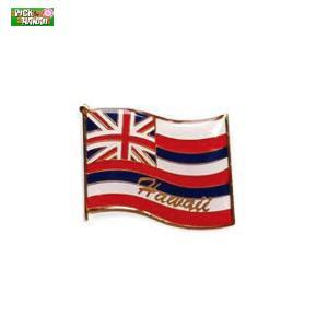 ハワイアン ピンバッジ フラッグ 国旗 バッジ かばんやキャップ帽などに ハワイ お土産 PICK The HAWAII KC-PB-FLG|hotroadparts