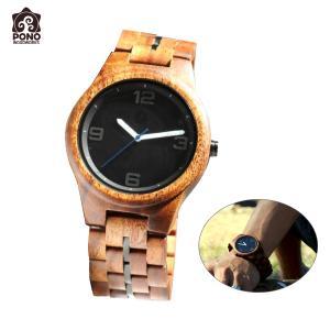 腕時計 コア ソリッドラウンド ブラックフェイス メンズ 男性用 ステンレス 電池式 ハワイ PICK The HAWAII PW-KW-KSMBK hotroadparts