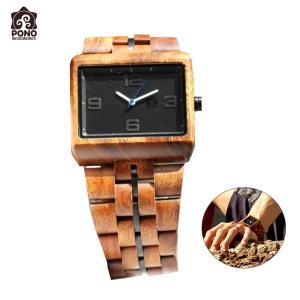 腕時計 コア ソリッドスクエア ブラックフェイス メンズ 男性用 ステンレス 電池式 ハワイ PICK The HAWAII PW-KW-KSSQMBK hotroadparts