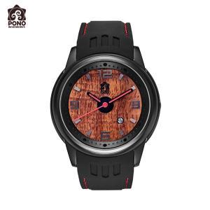 腕時計 コア Fissure8 ブラック ユニセックス ステンレス シリコン 電池式 10気圧防水 男女共用 PICK The HAWAII PW-KW-F8BK hotroadparts