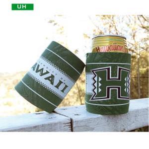 缶 クーラー ホルダー 保冷 ロゴ グリーン ホワイト hawaii ハワイアン雑貨 PICK The HAWAII BL-CANC-UH hotroadparts