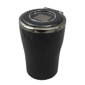 水洗い可能 ブルーLED搭載灰皿 振動防止ラバーボディ アッシュトレイ PZ-521/ 槌屋ヤック