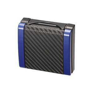 スリムドリンクホルダー カーボン調 ブルー 細缶〜500mlペットボトルに対応/カーメイト/CARMATE:DZ336 hotroadparts