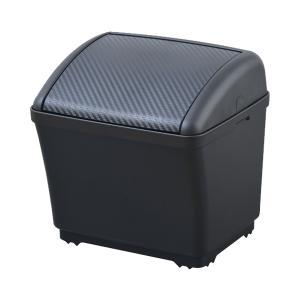 セイワ:ダストボックスS カーボン柄 ゴミ箱 車用 おもり付き/W911|hotroadparts
