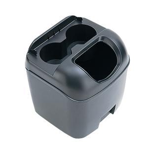 車 ゴミ箱 黒 ブラック ペットボトルも置けるドリンクホルダーつき ヤック/PZ-110|hotroadparts