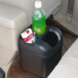 車 ゴミ箱 黒 ブラック ペットボトルも置けるドリンクホルダーつき ヤック/PZ-110|hotroadparts|02