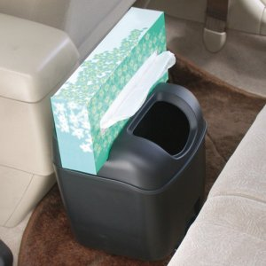 車 ゴミ箱 黒 ブラック ペットボトルも置けるドリンクホルダーつき ヤック/PZ-110|hotroadparts|04