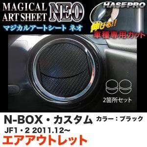 ハセプロ MSN-AOH3 N-BOX・カスタム JF1/JF2 H23.12〜 マジカルアートシートNEO エアアウトレット ブラック カーボン調シート|hotroadparts