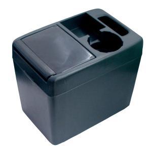 ゴミ箱 車 ラージトラッシュ1 ブラック 大容量 超安定 ウォークスルーに最適/ヤック PZ-343|hotroadparts