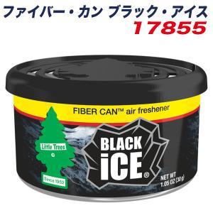 リトルツリー ファイバー・カン ブラック・アイス 芳香剤 Little Trees FIBER CAN エアーフレッシュナー 内容量30g  持続60日 17855|hotroadparts