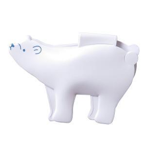 シロクマ マグネットクリップ W76×D10×H52mm 白熊 冷蔵庫などのメモ用に MEIHO ME80|hotroadparts