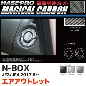 マジカルカーボン エアアウトレット N-BOX JF3/JF4(H29.9〜) カーボンシート【ブラック/ガンメタ/シルバー】全3色 ハセプロ|hotroadparts