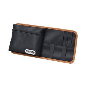 サンバイザーポケット for car 小物収納 大型バイザー対応 ブラック セイワ OD19|hotroadparts