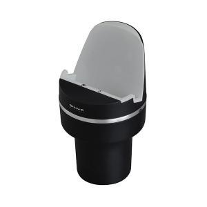 チャージャーカップ ブラック 車 充電器 10W ワイヤレス対応 スマホ スマートフォン 置くだけ セイワ D506 hotroadparts