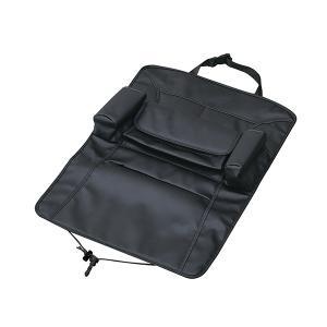 シートバックポケット プレミアム 車内 小物収納 ティッシュボックス ドリンク レザー調 ブラック セイワ WA8|hotroadparts