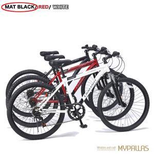 マウンテンバイク26インチ 6段変速自転車 Fサス MTB ハードテイル 街乗り レジャーブラック MYPALLAS/マイパラス 池商 M-620N hotroadparts