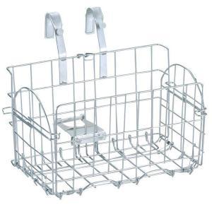 折畳サイクルバスケット 折りたたみ自転車用 前かご シルバー MYPALLAS/マイパラス 池商 MP-BK05|hotroadparts