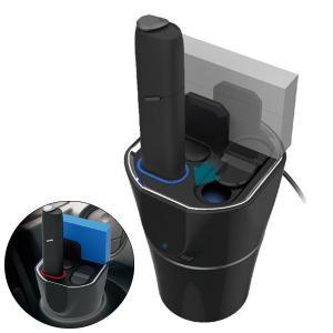 IQOS3 MULT専用スタンド 充電 吸殻入れ 収納 USB電源 車載 アイコス3マルチ オールマ...