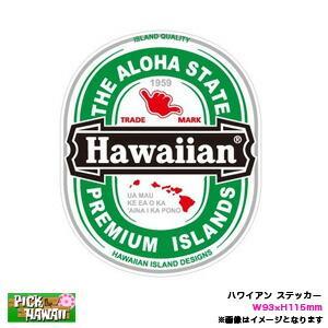 ハワイアン ステッカー Hawaiian ハワイアン 楕円形 W93×H115mm 車 ハワイ USA アメリカ USDM/HID-HIS-029|hotroadtirechains