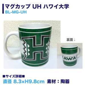 マグカップ タパ柄 ハワイ雑貨 グリーン アメリカ USA UH ハワイ大学 /BL-MG-UH hotroadtirechains