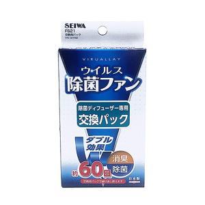 メール便可|セイワ:ウイルス除菌ファン 除菌ディフューザー FS20用 交換用パック/FS21|hotroadtirechains