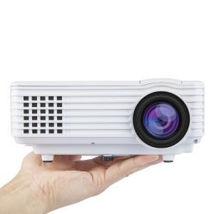 ミニLEDプロジェクター ホームシアター 1080PフルHD 解像度:800×480 120lm AV/VGA/HDMI/SD/USB対応 リモコン付き ホワイト