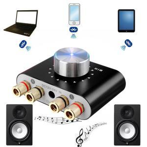 Bluetooth スピーカーアンプ 2チャンネル 50W×2 パワーアンプ ステレオスピーカー F...