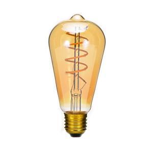 LED フィラメント 電球 スパイラル アンティーク 4W エジソンランプ E26