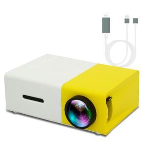 ミニプロジェクター YG300 スマホの画面を投影できる HDMI WiFiレシーバー 又は HDMIケーブル付き