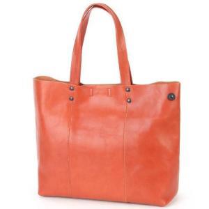 カルクル 牛革トートバッグ  オレンジ 日本製 本革 父の日ギフト好適品