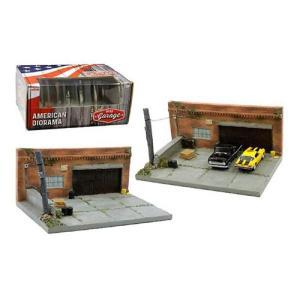 1/64 American Diorama マイガレージ ジオラマセット アメリカの古い車庫  特別...